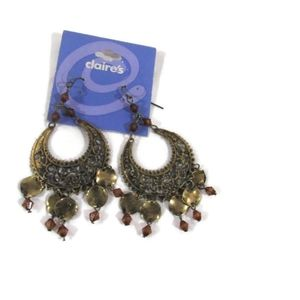 Claire's copper colored chandelier earrings